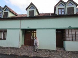 Milan in Front of Supena Family Home